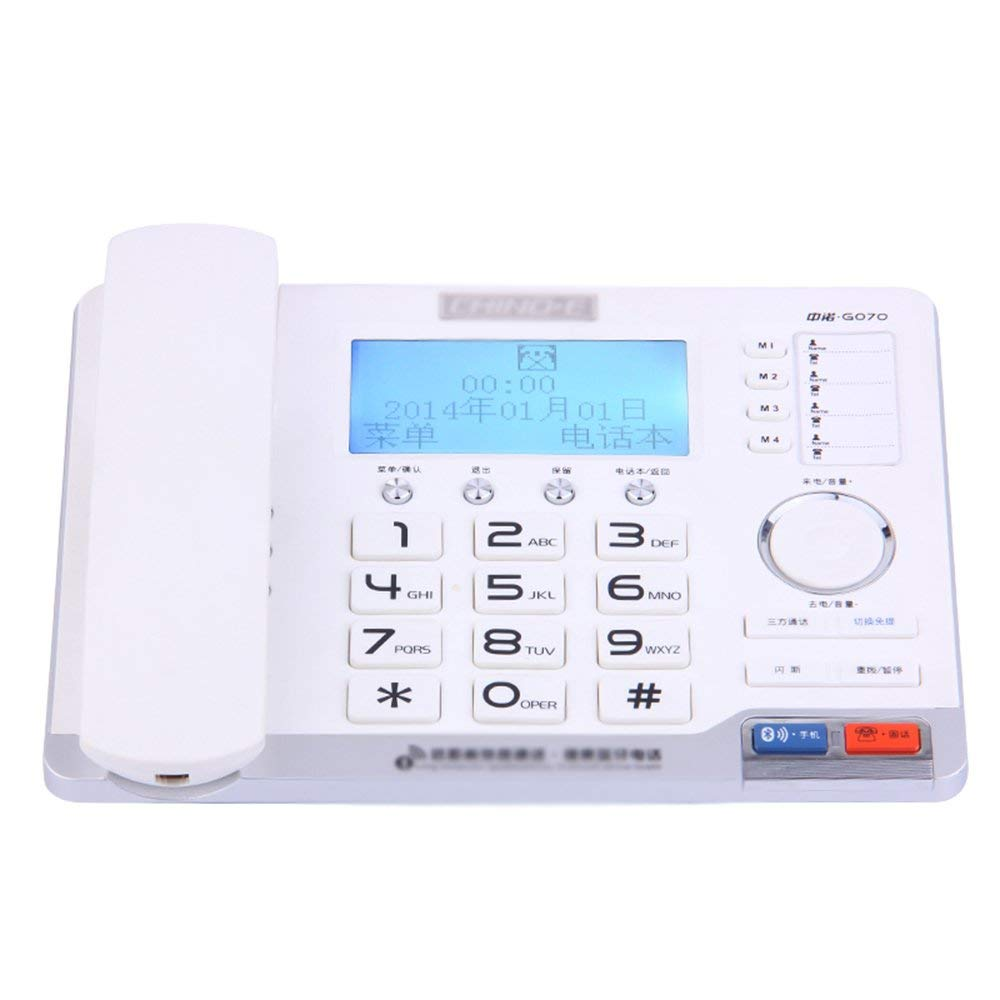 Telephone Bluetooth fixed office home multi-function wireless wireless landline hands-free calling phone book white 177mm219mm81mm