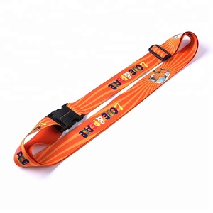 Wholesale Customized Sublimation Printing Polyester Luggage Tag Belt Straps For Suitcase