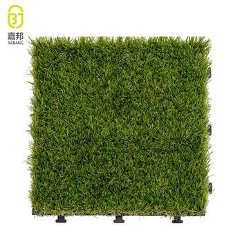 Wholesale Plastic Garden Tile Interlocking Artificial Garden Floor Tiles ,  Grass Floor Mats