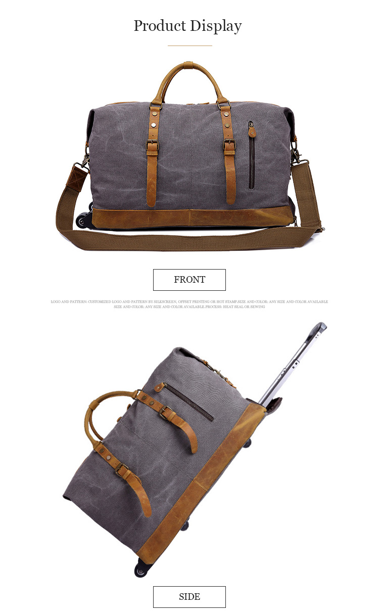 2019 Hot selling wholesale canvas fashion travel custom duffel bag for men