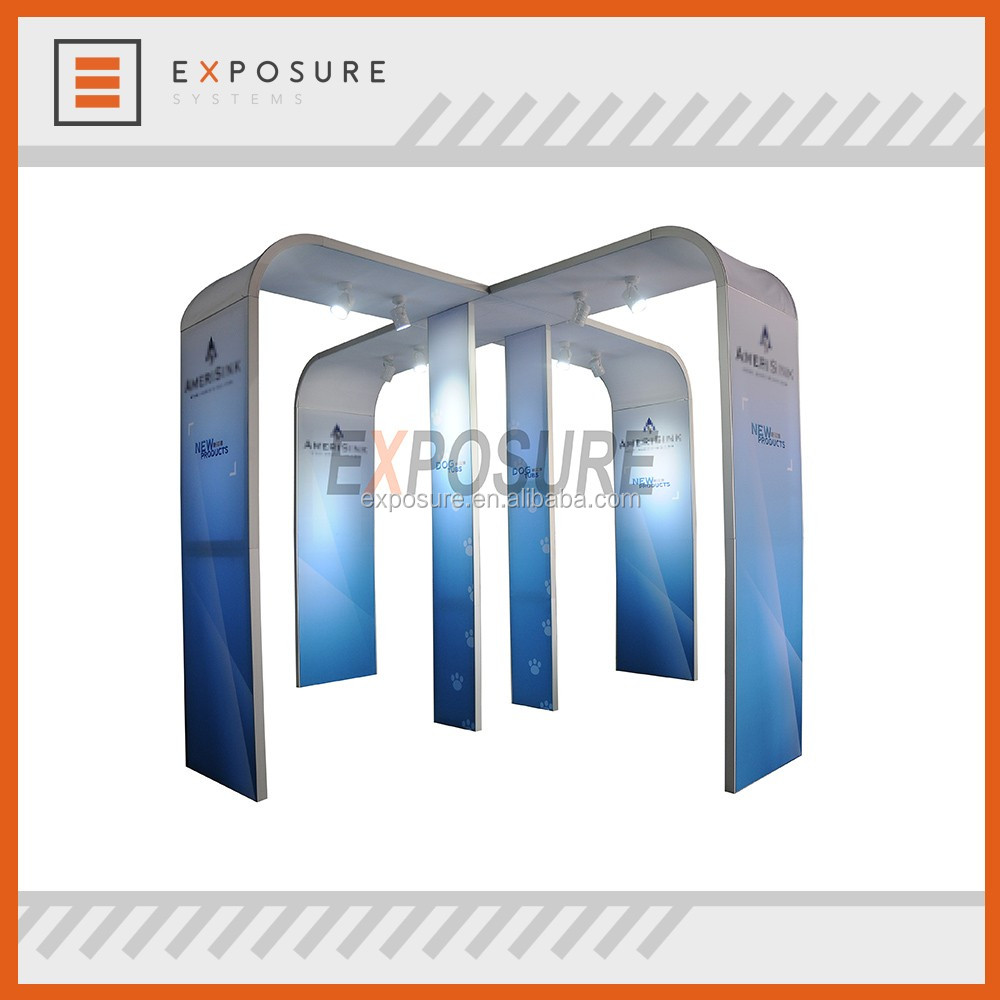 booth exhibition display standard booth size 3x3,3x2 size trade show equipment trade show display