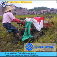 Whirlston exported to Philippines mini rice combine harvester/small wheat harvest machine price