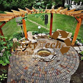 Foshan Pe Composite Wood Arcshaped Pergola A Nice Backdrop For Garden