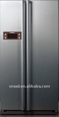 553L side by side refrigerator with ice cube maker