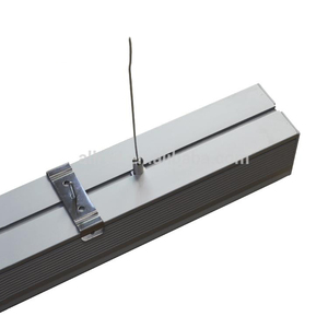 fancy light indoor office lighting ceiling-mounted suspended linkable led linear light with high quality
