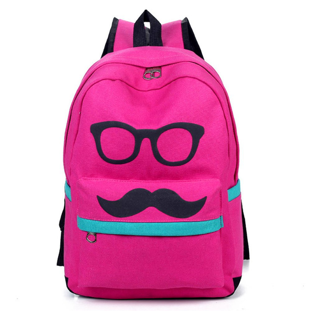 Buy Stylish Glasses Mustache Print Teenagers School Bags Mens Shoulders Bag  Rucksack Children Boys College Student Book Bag Mochila in Cheap Price on  ... fb819ed0863f7