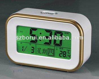 Led Backlight Lcd Calendar Clock,Talking Alarm Clock,Sound ...