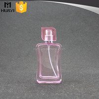 China design glass pink bottle perfume with sprayer