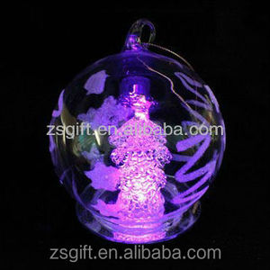 Hanging outside drawing Angel christmas led light ball with round mirror base