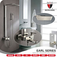 Contemporary accents bathroom brushed nickle rain shower faucet