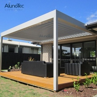 Patio Yard Adjustable Louvered Roof Louver Blade Awning System Pergola