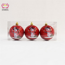 Factory whole sell christmas ball shape plastic container