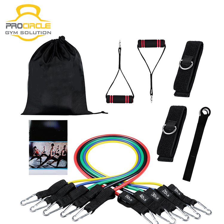 Bodybuilding Training <strong>Fitness</strong> 11 Piece Resistance Band Set