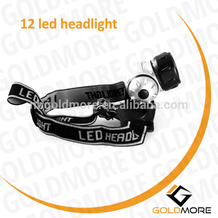 color customized cordless waterproof 12 led plastic headlamp running