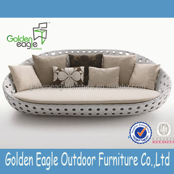wide rattan sofa garden furniture rattan sofa three seat sofa