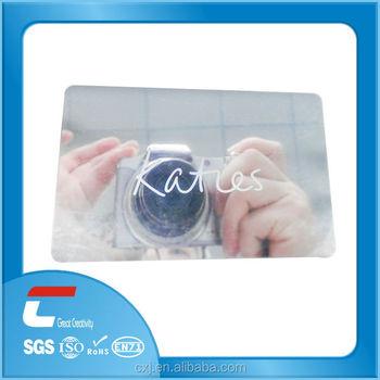 plastic hologram mirror business card buy mirror