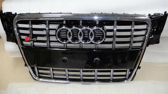 parrilla delantera para audi a4 b8 s4 medio grille para audi s4 accessaries auto parrilla. Black Bedroom Furniture Sets. Home Design Ideas