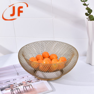 Double wire mesh iron storage gift basket