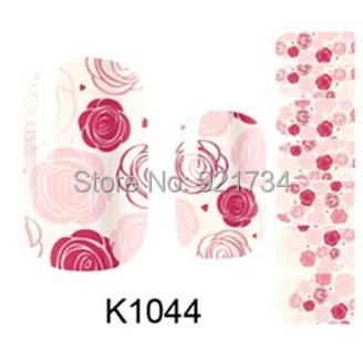 2015 newest 14 pcs strips press fashion k1044 fantasy rose mds series 3d wrap nail art