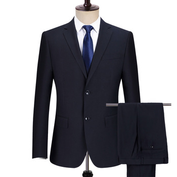 Wholesale quality cheap in stock regular fit formal office men black business suit