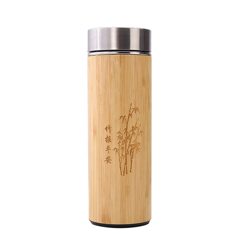 Promotion Eco Friendly Healthy Bamboo Travel Water Tumbler <strong>Bottle</strong>