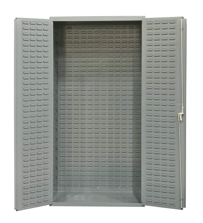 "Durham 14 Gauge Welded Steel Heavy Duty Flush Door Style Empty Storage Cabinet, 3501-BDLP-95, 24"" Length x 36"" Width x 72"" Height"