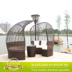 Latest Design Modern Waterproof Synthetic Wicker Rattan Nest Sofa Bed Patio Outdoor Furniture