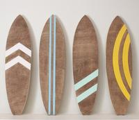 Surf beach wood wall hanging sign art for kids room decor
