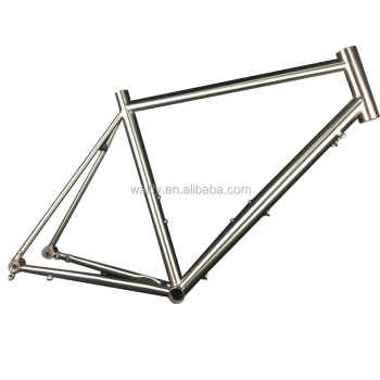 2017 DISC ROAD titanium bike frame for flat disc brake mount