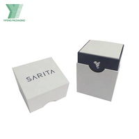 White paperboard handmade high quality candle packaging box
