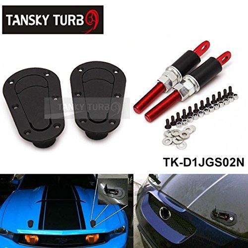 Tansky - Flush locking aero style bonnet hood pins JDM D1 TK-D1JGS02N