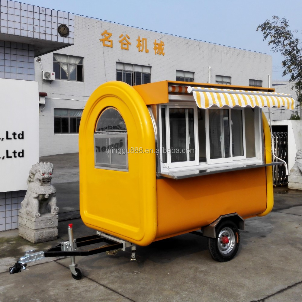 Outdoor bbq grill gas trailer food truck burger remorque snack trailer food truck