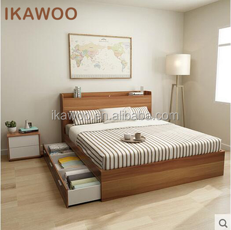 Foshan Latest Double Bed Designs Bedroom Furniture - Buy Latest ...