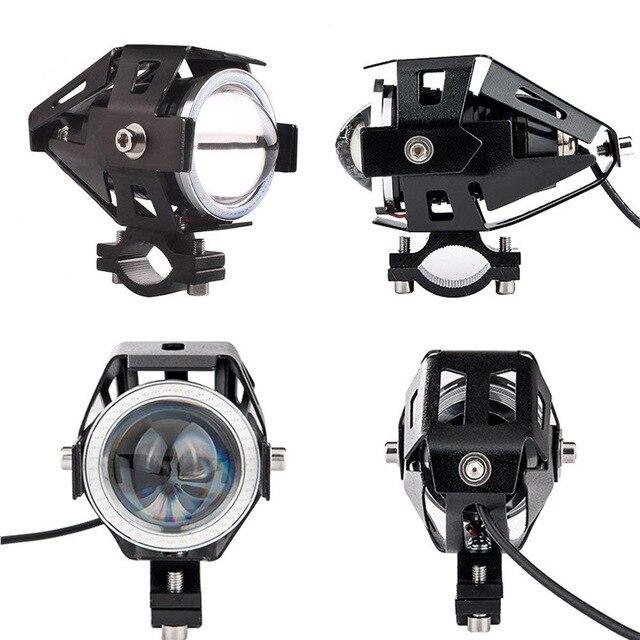 2019 Venta caliente 12 v-80 v Universal LED de la motocicleta de la bicicleta U7 faro LED de 30W impermeable de la niebla luz