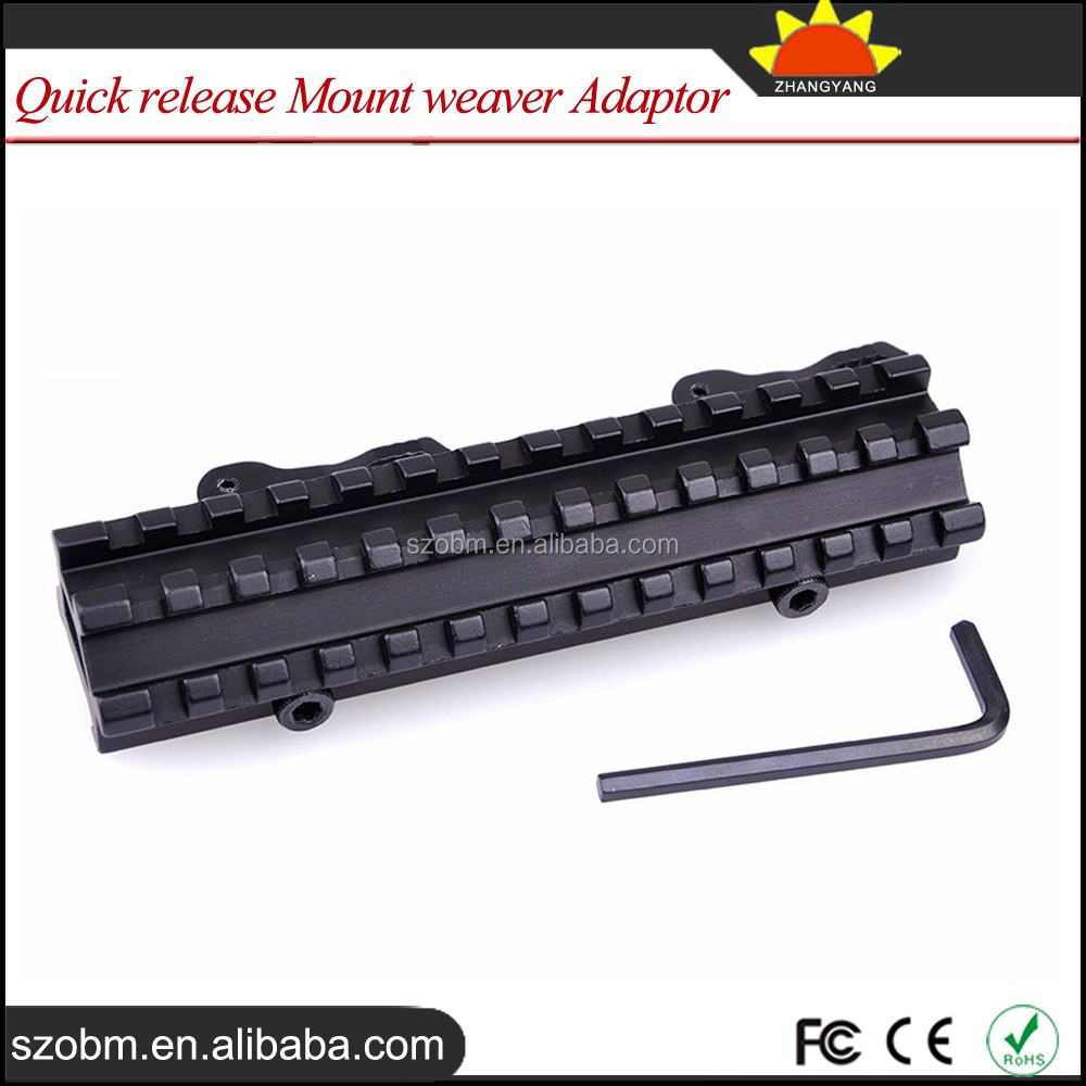 D0037 Quick Release Mount Picatinny Riser Scope Mount 21mm rail weaver Adaptor