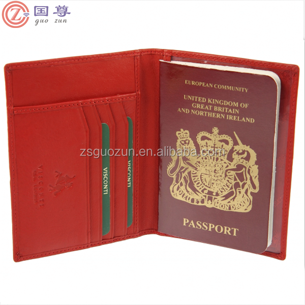 Leather Passport Holder Cover Organiser Travel Wallet Cash Credit Card Saddler