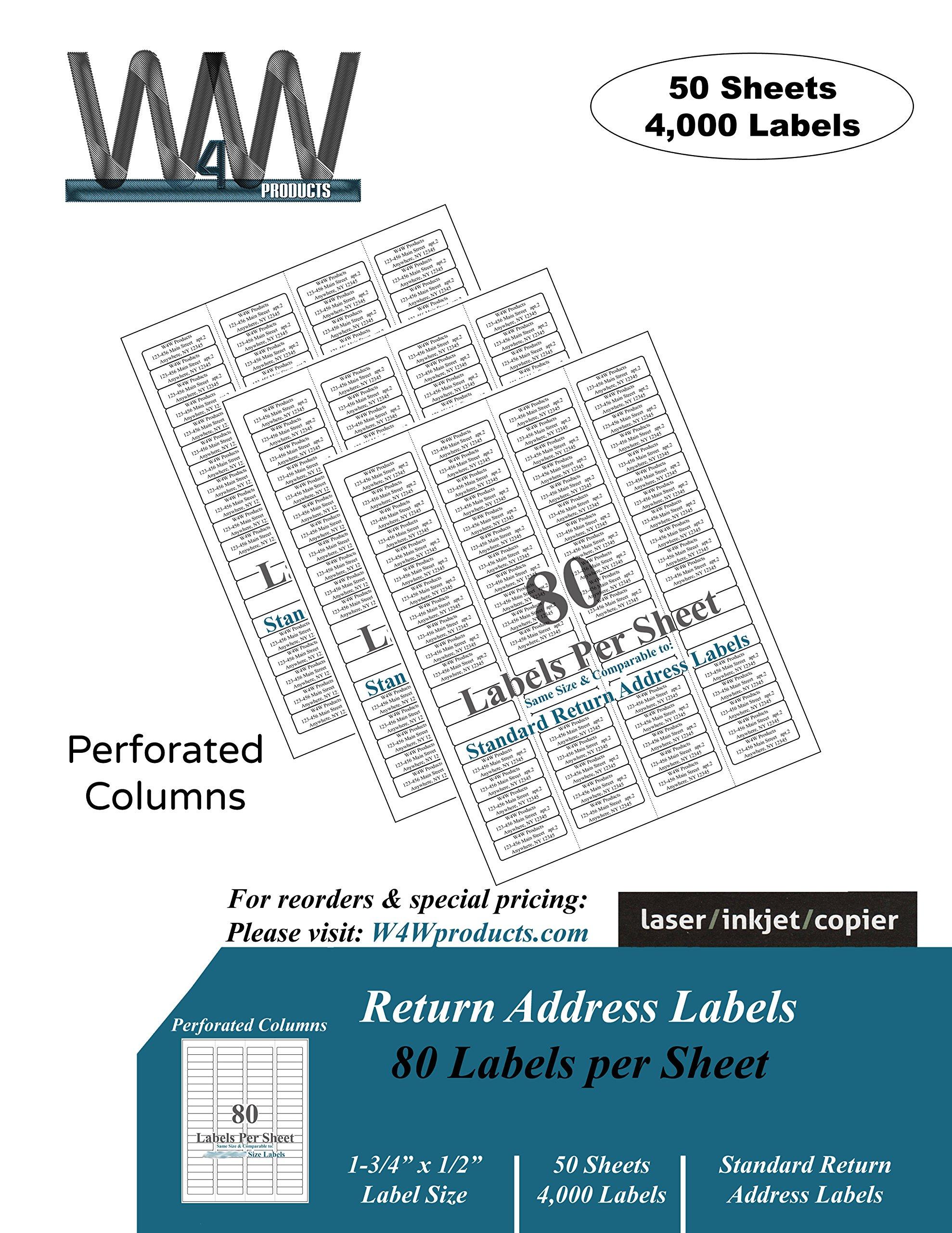 f52428a67ac Get Quotations · Return Address Mailing Labels - 50 Sheets - 4