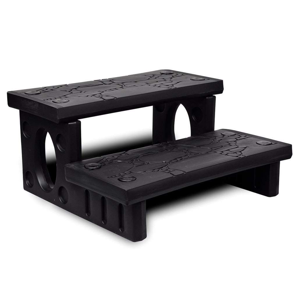 Get Quotations Patio Black Plastic Spa Hot Tub Reversible Treads Steps Non Slip Multipurpose Outdoor Living Pools