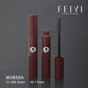 Korean style fancy brown plastic cosmetic empty mascara container