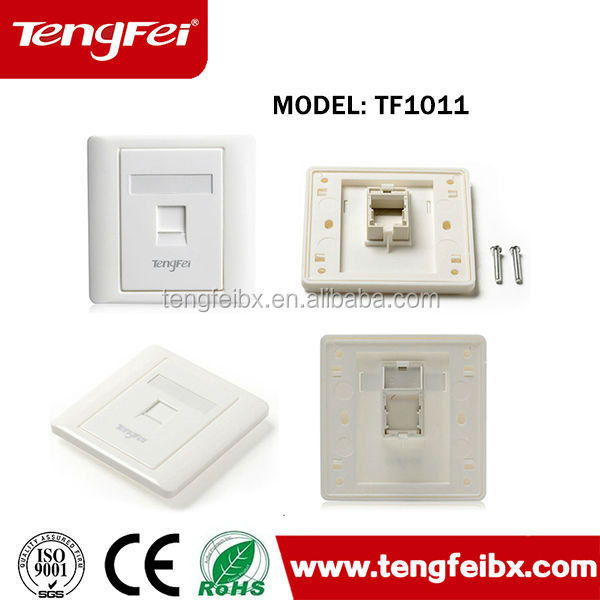 Made in china Most Popular White ivory single faceplate for network cable