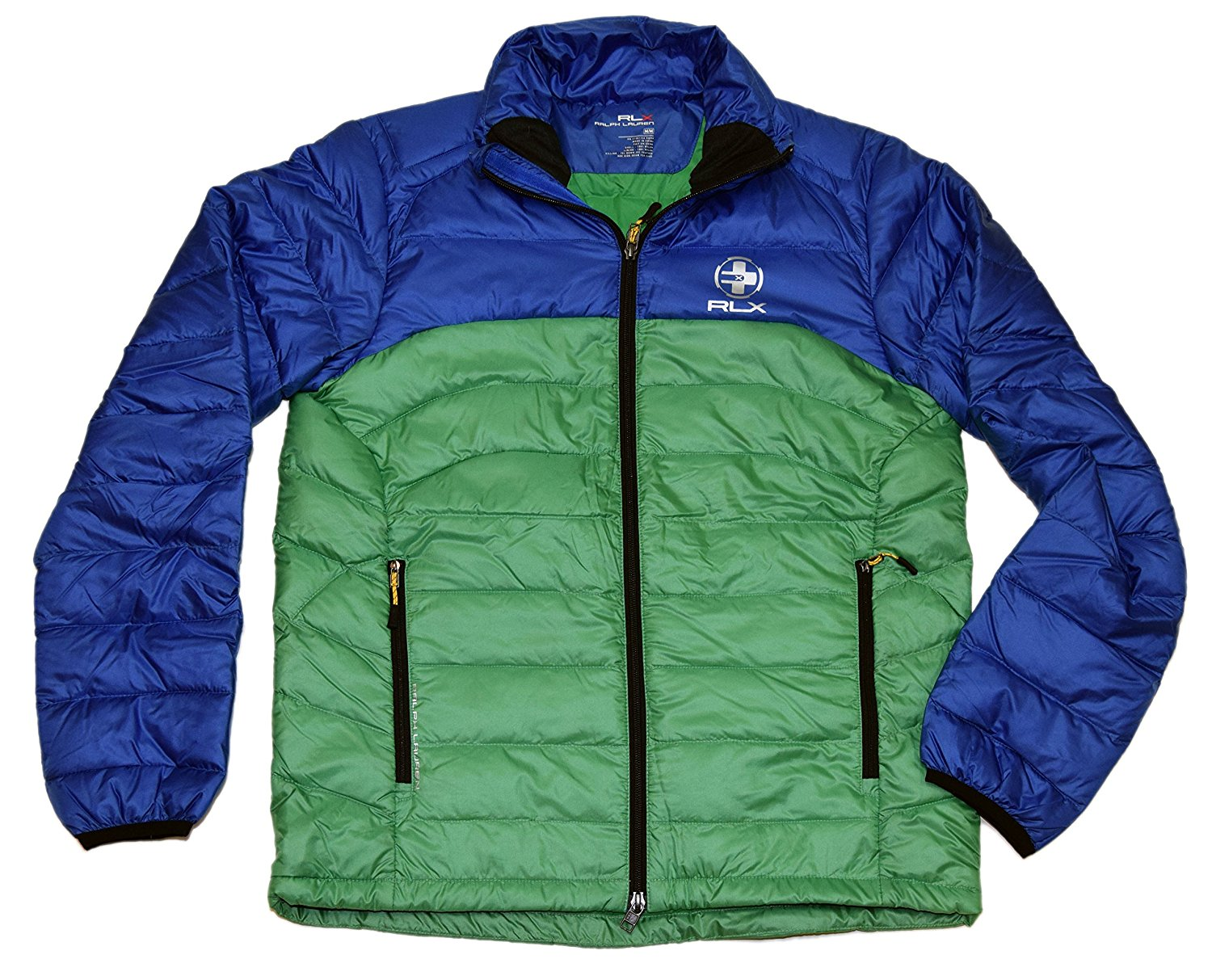 33a427646 Get Quotations · RALPH LAUREN Polo RLX Mens Full Zip Down Quilted Puffer Jacket  Blue Green Large