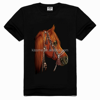 Men 39 s fashion 3d animal t shirts 3d horse t shirt for Wildlife t shirts wholesale