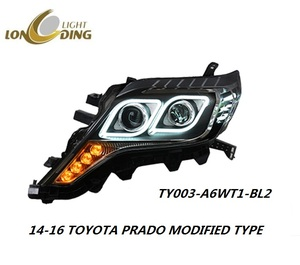 Longding Auto lamp for 2014-2016 Toyota Prado high quality modified HID Xenon head lights with LED DRL Hella 5 Lens