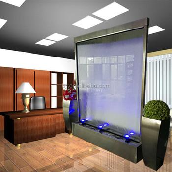 Floor Standing Waterfall Fountain Artificial Indoor Glass ...