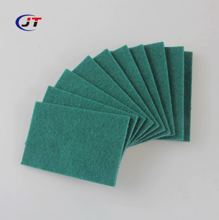 Hot Sale Heavy Duty Abrasive Dish Cleaning Green Scouring Pad