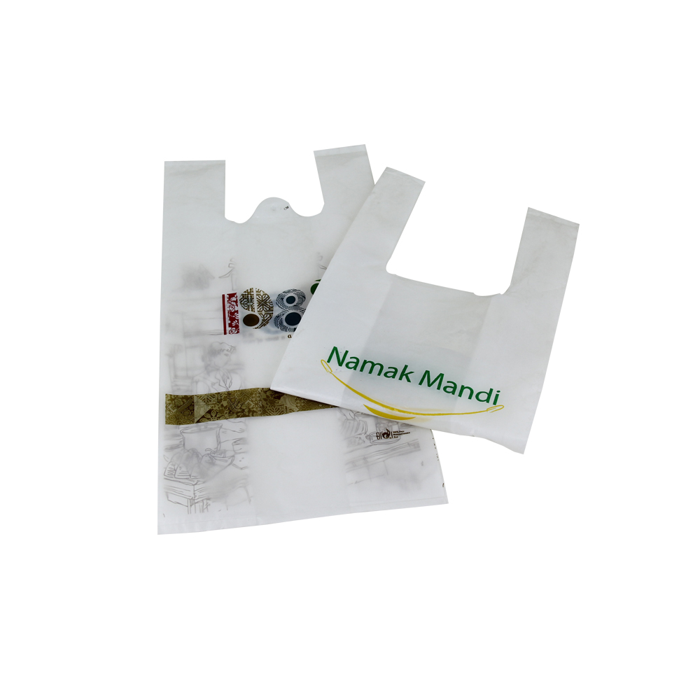 China Custom Printed Shopping Biodegradable T Shirt Bag Plastic Bag