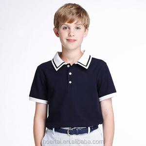 UK Plain Short Sleeve Navy Blue School Uniform Polo Shirt