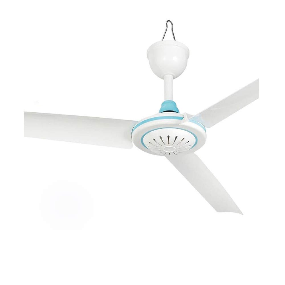 Portable DC12V Ceiling Fan for Camping Outdoor Gazebo,Energy-Saving Mini Hanging Tent Fan Compatible Solar Power 12V Battery