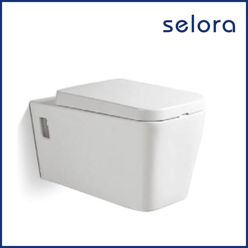 chaozhou factory wholesale durable use porcelain white color wall hung toilet with low price