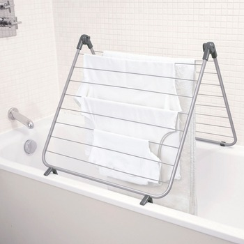 Over Bath Airer Indoor And Outdoor Folding Clothes Drying Rack